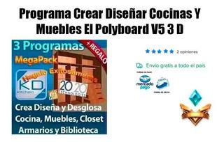 Programa Crear Diseñar Cocinas Y Muebles El Polyboard V5 3 D