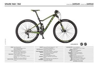 Bicicleta Mtb 29er 27.5 Scott Spark 960 / 760 Stock! 2017