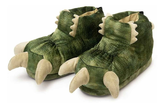 Pantufa 3d Garra Dino Dinossauro - Solado Borracha - Ricsen