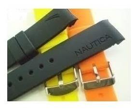 Relógio Nautica Só Pulseira Compatível Silicone Pr. Entrega