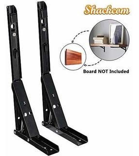 Shackcom Soportes Plegables Para Estantes 2 Unidades De Mesa