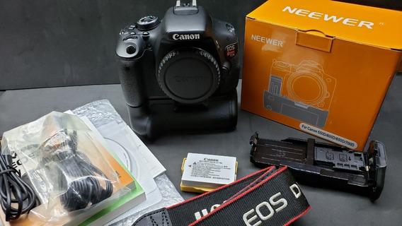 Câmera Dslr Canon Eos Rabel T3i + Grip - Usada