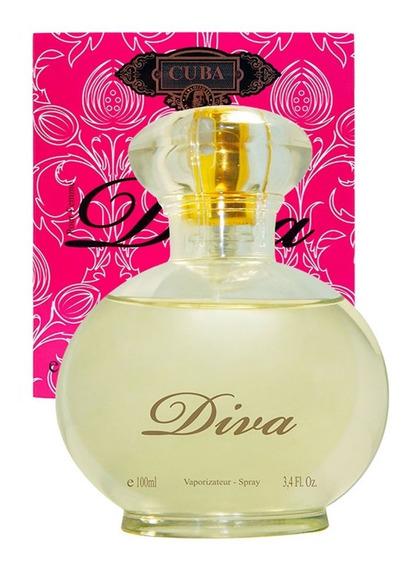 Perfume Cuba Feminino Diva Edp 100 Ml Lançamento