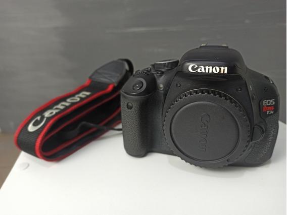 Câmera Canon T3i Usada, Alça E Bateria Original