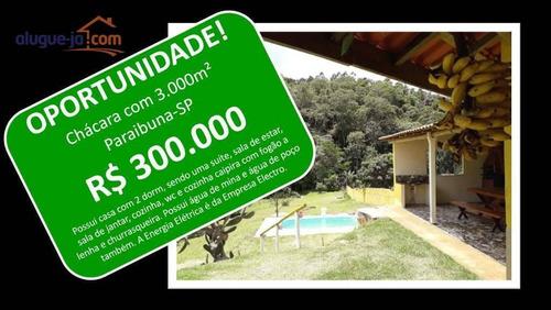 Chácara Com 2 Dormitórios À Venda, 3000 M² Por R$ 300.000,00 - Zona Rural - Paraibuna/sp - Ch0168