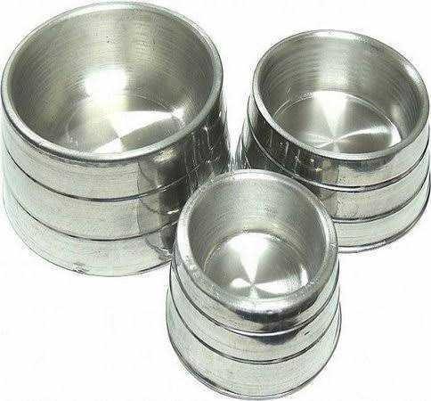Kit 3 Comedouro De Alumínio Pesado Para Cães E Gatos M-g-gg