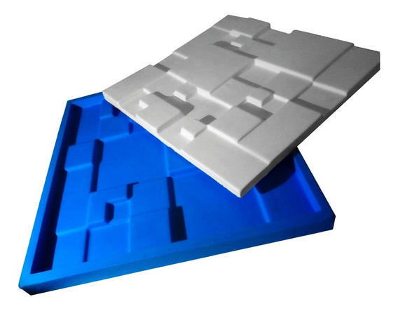 Forma Para Gesso 3d 100% Silicone Mosaico Liso