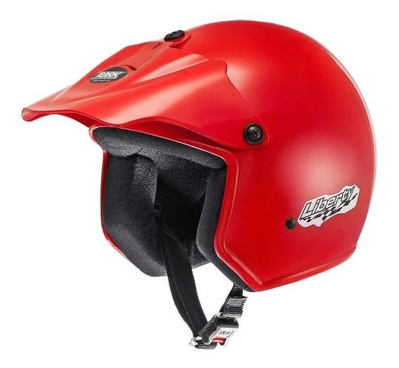 Capacete para moto aberto Pro Tork Liberty vermelho tamanho 58
