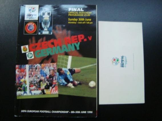 Programa + Ingresso Final Euro96 Rep.tcheca X Alemanha 1996