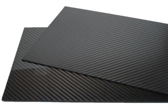 Placa Chapa De Fibra De Carbono (390 Mm X 250 Mm X 1,0 Mm)