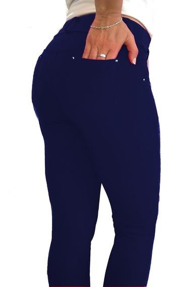 Calza Legging Mujer Algodón Con Lycra Talles 1-6 Go Fitter