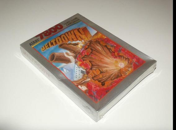 Atari Jogo Meltdown Pra 7800 Lacrado Cartucho Ano 1989