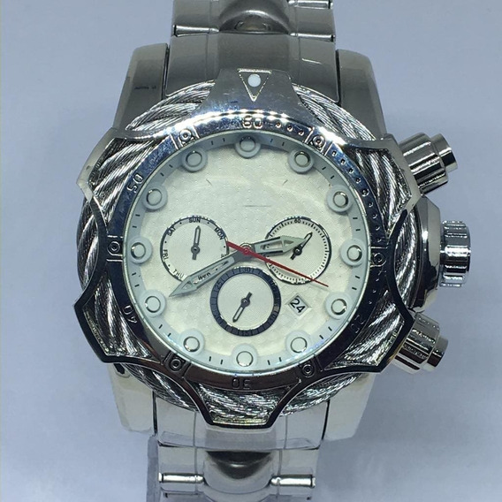 Relógio Masculino Prata Pesado Top Barato Grande+caixa