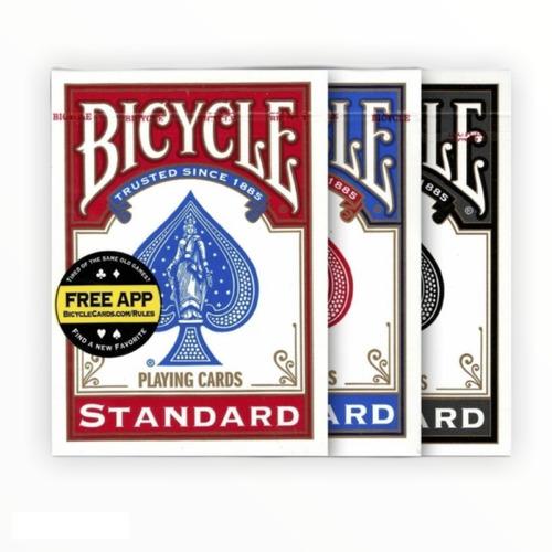 Imagem 1 de 8 de 3 Baralhos Bicycle Standard : Azul - Vermelho - Preto