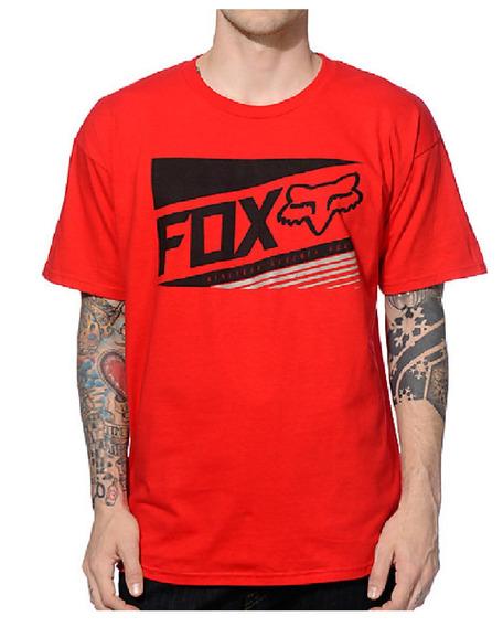 Remera Fox Manifest Ss Rojo Talle L