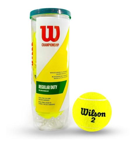 Pelota De Tenis #2 Wilson Championship Regular Duty 3 Unids