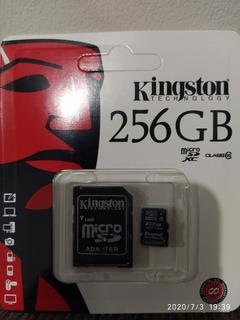 Cartão De Memória Kingston 256 Gb