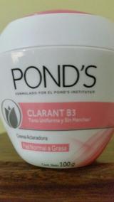 Crema Ponds Clarant B3 Aclaradora 100grms