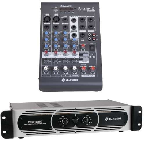 Mesa Som 4 Canais Xms402 + Potência Pro 2200 550 Watts Rms