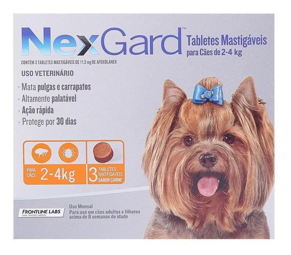 Antipulgas Nexgard Cães De 2 A 4kg - 3 Tablete