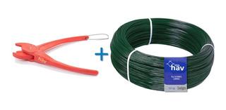 Instalação Tela Soldada Pvc Verde Kit Alicate + 5kg Arame