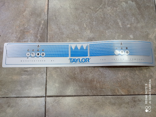 Calcomanías Frontales Para Maquinas De Helados Taylor