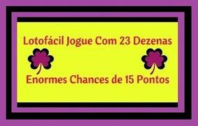 Planilha Lotofácil - 23 Dezenas Com 7 Fixas
