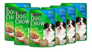 Pouch Dog Chow 6x3 Sabor A Elección X 100 Gr