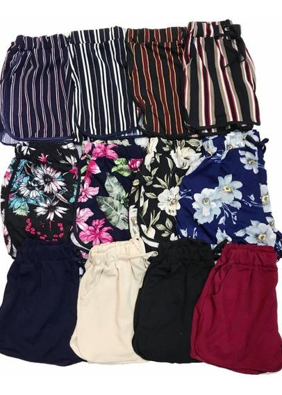 Shorts Malha Bermuda Feminino Kit10 Bolsos Atacado Revenda