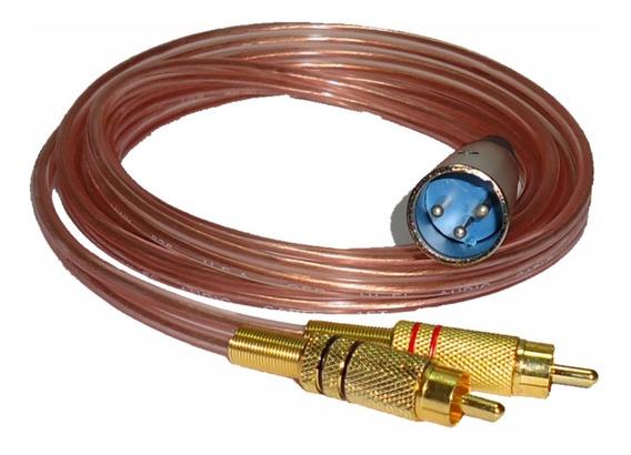 Cable Canon Xlr A 2 Rca Macho Libre Oxigeno Hi-fi 2 Mts
