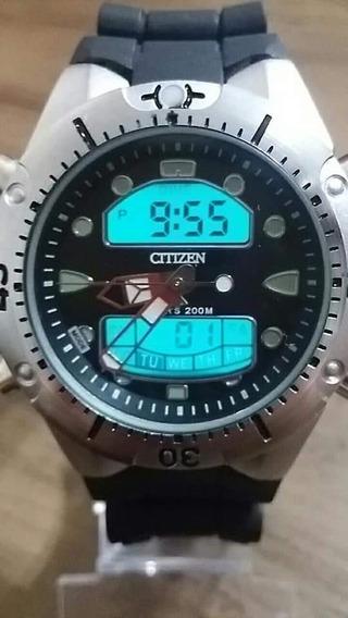 Relógio Masculino Citzen Aqualand Á Prova D