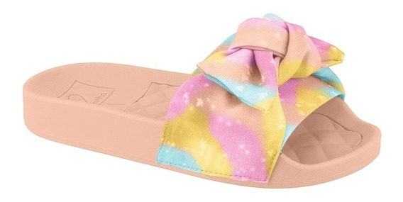 Chinelo Slide Infantil Feminino Molekinha 2311103 Do 26 Ao 3