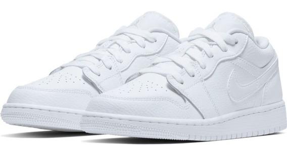 Air Jordan 1 Low Gs White