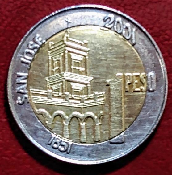 Moneda Argentna De 1 Peso Urquiza 2001