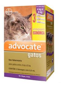 Antipulgas Bayer Advocate Combo Gatos De 4kg A 8kg - 10/20