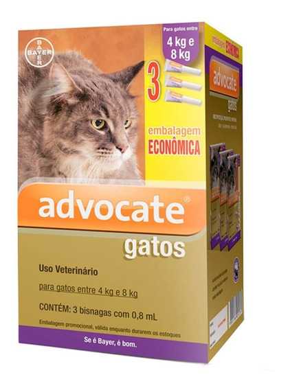 Antipulgas Bayer Advocate Combo Gatos De 4kg A 8kg