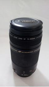 Lente Canon Ultrasonic Lf 75-300mm Com Case Original