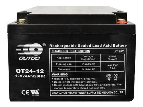 Imagen 1 de 1 de Bateria 12v 24ah Recargable Seca Energa Solar  Ups Alarmas