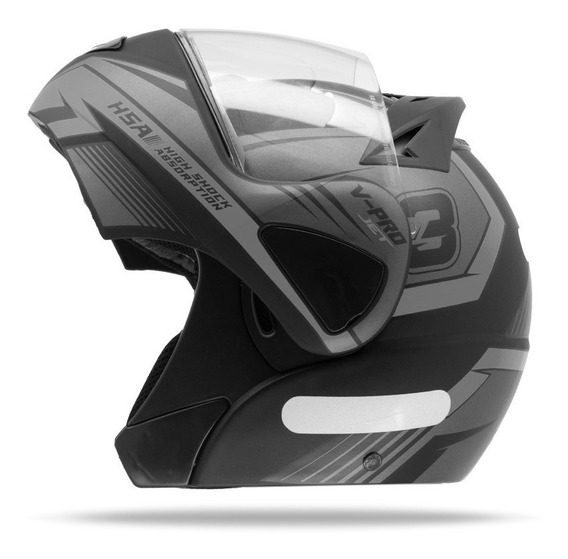 Capacete Robocop Masculino Pro Tork V Pro Jet 3 Cinza