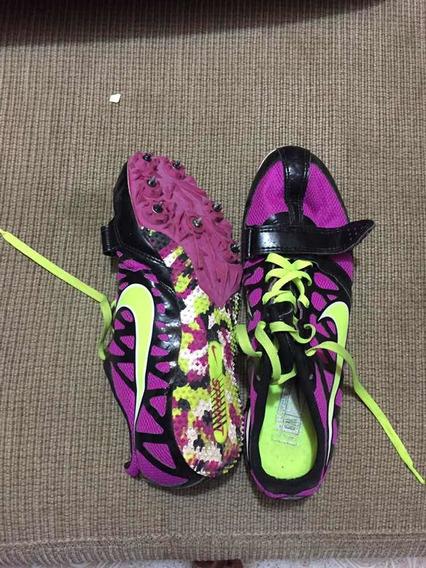 Spikes Nike Atletismo Dama #5 Color Fucsia