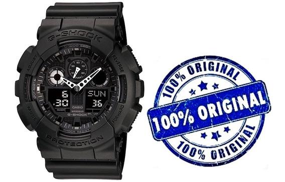 Relógio Casio G-shock Ga-100 1a1 Preto Original Com Caixa !!