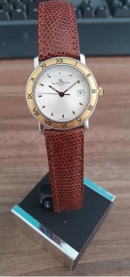 Relógio Suíço Baume Et Mercier Transpacific Ouro Feminino