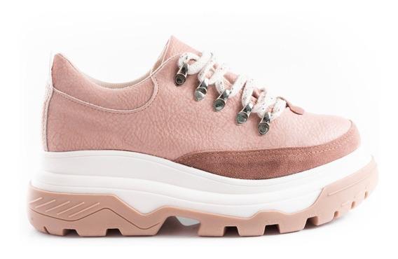 Zapatillas Mujer Moda Plataformas Sneakers Urbanas Cuero Pu