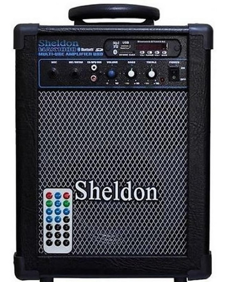 Caixa Multiuso Sheldon Max 1000 Preta Bluetooth 15w - Bivolt