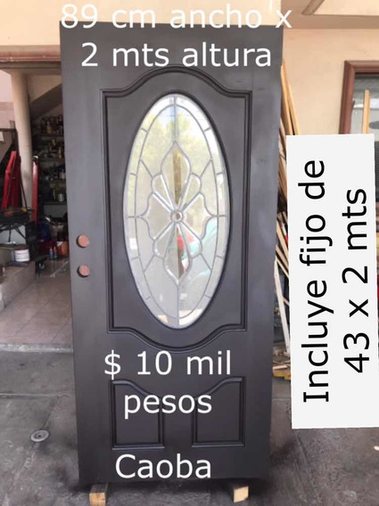 Puerta Principal Caoba
