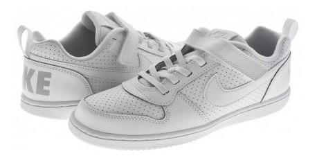Tenis Escolar Nike 870025 100 White/white Court Borough Low
