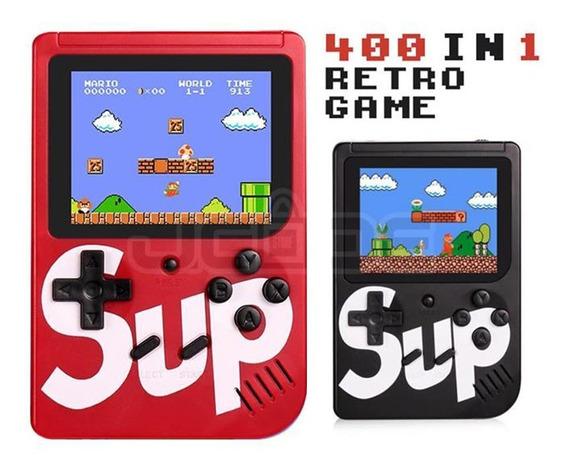 Kit Com 2 Video Game Portatil 400 Jogos Internos Mini Game