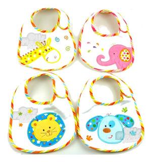 Baberos Pack X 6 Impermeables Bebes Nene Y Nena Por Mayor