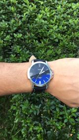 Relógio Yazole Em Couro Preto Elegante Vintage