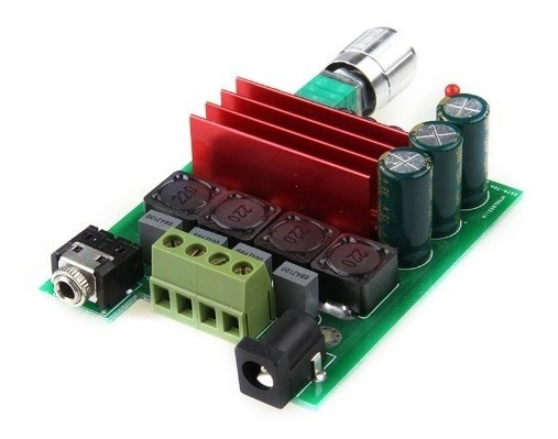 Placa Amplificador 2.0 50+50 100w Rms Caixa Ativa Classe D